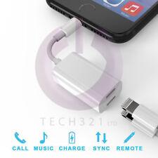 Para iPhone 7 Iphone 8 Dual 2 Lightning Audio Auriculares Adaptador Cargador Divisor