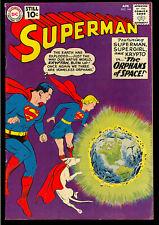 Superman #144 Nice Silver Age Superman Supergirl DC Comic 1961 FN