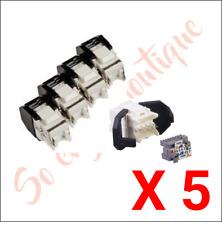 3M Volition OCK5EF - Lot 5 connecteurs RJ45 Keystone K5e FTP - catégorie 5