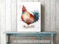 HEN WATERCOLOUR FINE ART/GICLEE PRINT, WALL ART, PAINTING, PICTURE, CHICKEN BIRD