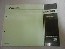 Parts CATALOGUE/list catalogo parti di Honda CRF 450 R (2) modello 2002