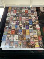 HUGE Lot of 90 80's /90s Assorted Cassette Tapes Originals Vintage Like 1$ Each