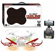 Hawk Eye D-15F Radio Controlled Live Feed Drone 2.4GHZ 6-Axis Quadcopter White