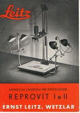 LEITZ REPROVIT - Depliant 1950