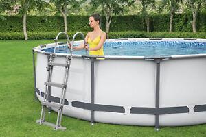 12 ft Pool Bestway Steel Pro Frame Swimming & Pump 12ft x 39.5in  New Gen garden