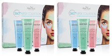Belle Azul 360 Mask Collection - 3 Piece Face Mask Kit with Shea Butter (2 Pack)