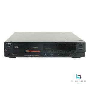 Sony CDP-350 CD-Player Compact Disc Player Schwarz Dual D/A Converter [G]