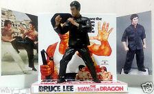 BRUCE LEE - THE WAY OF THE DRAGON Action Figure on Custom Design Display Diarama