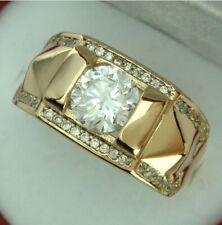 14K Solid Yellow Gold White Sapphire Ring Set Wedding Women Men's Jewelry Sz5-13