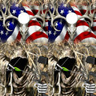 Cornhole Board Wrap Vinyl Camo Decals Buck Skull American Flag Grim Reaper 2pack