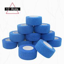 COMOmed 2.5cm Cohesive Bandages Self Adhesive Elastic Sports Wrap Tape 12ROLLS