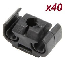 Car Brake Line Hose Clips Black Double Cable Holder Brackets Pack of 40 For VW