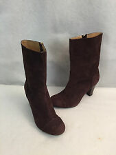 Banana Republic Brown Suede High Heel Mid Calf Boots Womens Size 8 M