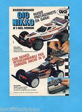 TOP989-PUBBLICITA'/ADVERTISING-1989- GIG NIKKO - DIPLOMAT+BACKFIRE RADIOCOMAND.