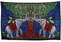 Handmade 100% Cotton 3D Elephant Tree Tapestry Tablecloth Sheet 60x90