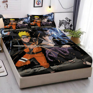 Anime Fitted Sheet 3PCS Bed Sheet & Pillowcase Bedding sets Gift for Fan
