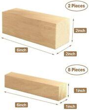 10 PACK,Premium Basswood Wood Carving Blocks Kit - Whittling Beginners Soft Wood