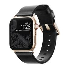 Nomad Horween Leather Strap Modern for Apple Watch 1,2,3,4 -38mm-40mm BLACK GOLD