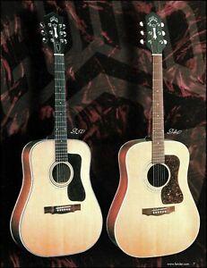 Guild D50 & D40 acoustic guitar advertisement 8 x 11 color ad print