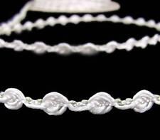 "5 Yds SALE White Roses Rosebud Wedding Trim Ribbon 1/4""W"