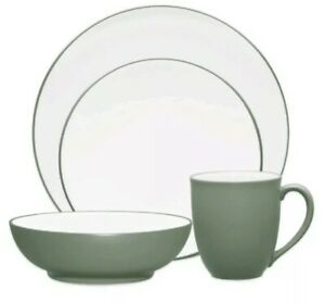 Noritake Green 8485 Colorwave Coupe 3 Pieces Place Setting Dinnerware, (#59)