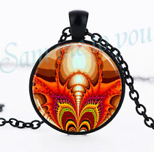 Key Ring Art, Uk Fast Free P&P Abstact Art Fractal Glass Pendant Necklace or