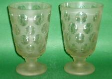 2 antico Ranftglaeser di Boemia Vaso Vetro Coppa Bicchiere Calice in ? corroso