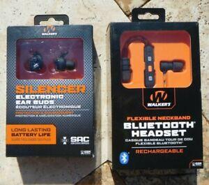 🌟🎈 WALKER'S SILENCER Ear Buds GWP-SLCR or FLEXIBLE NECKBAND HEADSET GWP-RP-BT