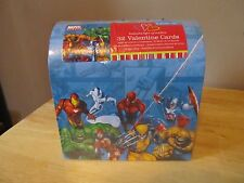 Marvel Heroes Valentines Day Cards In Collectible Mail Box~32 Cards~2009~New!