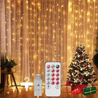 Curtain String Lights/Waterproof/Copper String Lights Indoor Outdoor Xmas Decor