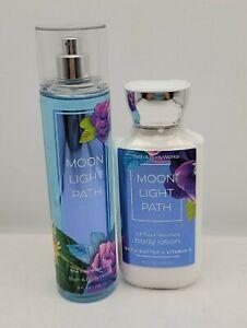Bath & Body Works Moonlight Path Fine Fragrance Mist & Body Lotion Set/Gift 8OZ