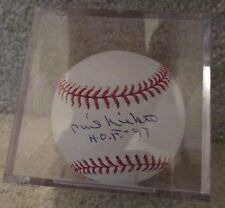 MLB Phil Niekro HOF Signed Autographed Baseball JSA Certified in Case
