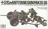 Tamiya 35035 1/35 Scale Military Model Kit German 37mm Anti-Tank Gun PAK35/36