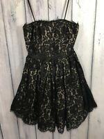 Neiman Marcus For Target Prom Dress Cocktail Black Strapless Lace NWT Size 4 6 8