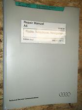 1998 AUDI A6 RADIO TELEPHONE NAVIGATION ORIGINAL FACTORY SERVICE MANUAL REPAIR