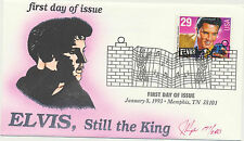2721 Elvis Presley FDC Issue Pugh Hand Painted Fancy Music Cancel MemphisLOT 766