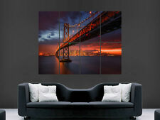 SAN FRANCISCO  GOLDEN GATE BRIDGE BEAUTIFUL SUNSET ART HUGE GIANT POSTER PRINT