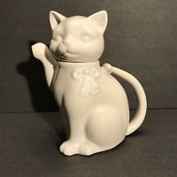 Vintage White Cat Creamer / Cream Pitcher by Crowning Touch Collection - Japan