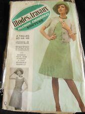 PATRON vintage robe chapeau veste  taille  40 44 48 Modes et travaux