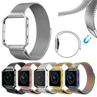 Milanese Loop Magnetic Stainless Steel Watch Band Strap + Frame for Fitbit Blaze