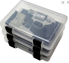 """MTM Plastic Storage Case 3 Pack Transparent 9"""" -Made in USA"""