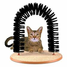 Amazing Pet Cat Arch Bristles Kitten Self-Groomer Massager Scratcher Catnip Toy