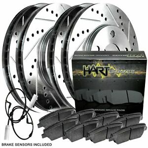 For 2012 BMW X1 Front Rear Drilled Slotted Brake Rotors + Ceramic Brake Pads