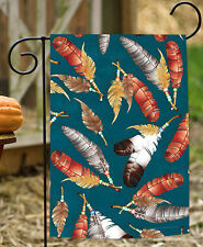 New Toland - Dancing Feathers - Colorful Native Bird Feather Bead Garden Flag