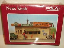 NEW POLA SEALED NEWS PAPER STAND KIOSK  BUILDING KIT HO SCALE RAILROAD 11538