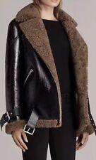 Allsaints Hawley Leather Biker Shearling Coat.Jacket.size Small.£998