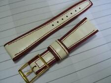 VINTAGE NOS 20X14MM LANIERE DOUBLE TONE LEATHER BAND STRAP                *3499