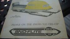 1967 Vintage SNO FLITE Snowmobile Brochure