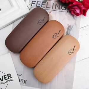 Wooden Reading Glasses Case Portable Sunglasses Storage Box Eyeglasses Pouch