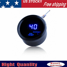 New Listing2 52mm Digtal Blue Led Oil Temp Temperature Auto Gauge Meter 40 150 With Sensor